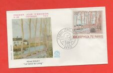FDC - 1974 - Alfred SISLEY - Le canal du Loing (822)