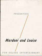 Presenting Mardoni And Louise Promotional Brochure