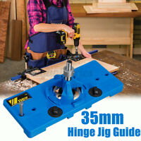35mm Cup Style Round Hinge Jig Drill Guide Cabinet Door Hole Locator