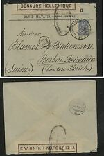 Greece  nice  censor  cover  to  Switzerland   1919     KL0809