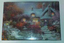 Sealed Rare 2003 Thomas Kinkade Evening At Swanbrooke Cottage Puzzle Painter Of