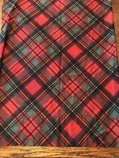 RALPH LAUREN Destry Tartan Red Green Plaid King Pillowcase