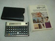 Hewlett-Packard Hp-12C Financial calculator case owner's manual 1st edition