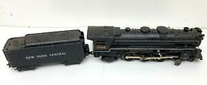 1957 MARX Trains 333 New York Central 4-6-2 O Scale Locomotive with Tender