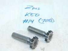 Used 2pc Keo Hss No14 Straight Tooth Woodruff Keyseat Cutters 732 X 1 X 12