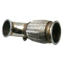 "3.5"" 89mm V-Band to V band Downpipe Low 90 Degree w/Flex bellow+O2 bungs plug"
