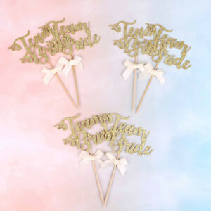 6x team bride cake cupcake toppers bachelorette hen party decoration supplies Vh