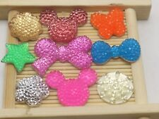 50 Assorted Flatback Resin Dotted Rhinestone Mouse Cat Flower Cabochon Gems