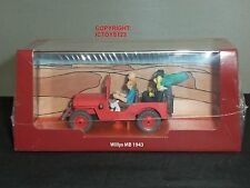 TINTIN BOOK COMIC LAND OF BLACK GOLD DIECAST MODEL 1943 WILLYS JEEP + FIGURES