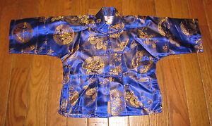 Toddler Size 2T Chinese Asian Golden Dragon Shirt Pajamas Pjs Halloween Costume