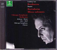 Daniel BARENBOIM: BEETHOVEN Missa Solemnis 2CD Waltraud Meier John Aler Kiberg