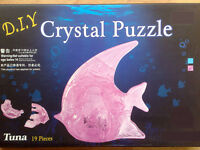 3D Crystal Puzzle Jigsaw Model 18 pc Tropical Fish PINK