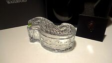"NEW WATERFORD CRYSTAL LARGE SEAHORSE 8"" COVERED BOX ~ DISH ~ MARKED"