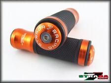 Strada 7 CNC Orange Grips Bar Ends Combo Kawasaki ZX1100 ZX-11 ZRX1100 1200