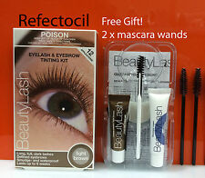 Refectocil Eyelash Eyebrow BeautyLash Tint Kit - 3.1 Light Brown + mascara wands