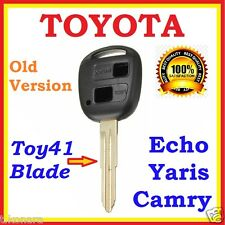 Toyota Remote Key shell Echo Camry Corolla Yaris Blank Two 2 Button Toy41 Blade