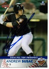 Andrew Susac 2014 Fresno Grizzlies PCL Top Prospect Signed Card