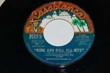 """KISS vintage 7"""" 45 Rock And Roll All Nite Live Vinyl Aucoin BIG FONT ONE LOGO"""