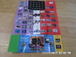 Sega Genesis Game Gear C.D. (Mixed) Promo Poster / Insert  Golden Axe, Batman,