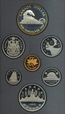 Canada 1986 Double Dollar Proof Coin Set Silver $1 BOX COA Locomotive