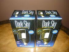 LOT OF 2 NEW Bulbrite Long Life 60W Output 15W Dark Sky CFL Light Bulb 8000 Hour