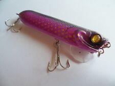 Leurre Popper pêche surface mer riviere noir violet