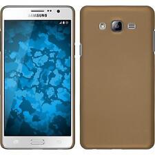 Custodia Rigida Samsung Galaxy On7 - gommata oro + pellicola protettiva