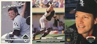 Carlton Fisk lot of 3 different Chicago White Sox vintage baseball cards