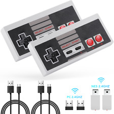 AGPTEK 2 Pack NES Wireless Controller Nintendo Classic Mini Edition and PC