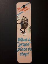 Vintage 1988 California Raisins Bookmark Antioch