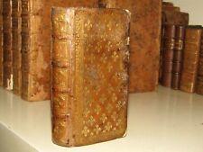 Rare Livre Ancien Latin Reliure Fleurs de Lys Epoque XVIIème 1650 - Suetone