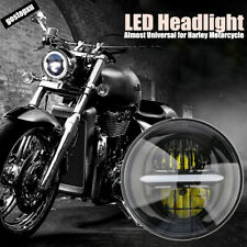 """7"""" LED Projector Headlamp Headlight Lamp Fit For Harley Softail Touring 1994-13"""