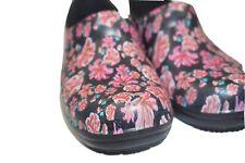 Women's CROCS Dual Comfort Floral Flower Nurse Professional Clogs Shoes Size 10