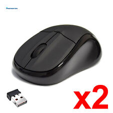 Lof of 2 2.4GHz Wireless Cordless Optical Mouse Mice +USB Receiver for PC Laptop
