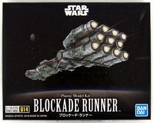 Bandai Star Wars Vehicle Model 014 Blockade Runner Plastic Model