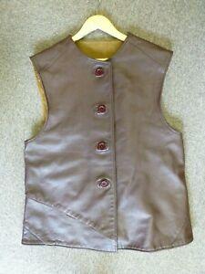 "Leather Jerkin Waistcoat Reenactment Monty Don Gardening 42"" size No:3 CWCW Ltd"