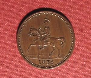 1835 ENGLAND FARTHING TRADE TOKEN - CHAMPION GROCER AND IRONMONGER, NETTLEBED!
