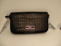 Woman's DKNY crossbody bag croco embossed leather new