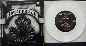 """Die Kreuzen - Gone Away - WHITE 7"""" Vinyl US Touch And Go 1989 Fold out sleeve"""