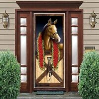 HORSE RACING DOOR COVER MELBOURNE CUP SPRING CARNIVAL POSTER PARTY DECORATION