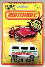 Lesney Matchbox 23-A 23a VW Volkswagen Pizza Van Bus Dormobile Chrome Wheels BP