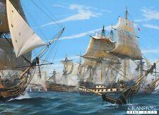 Naval war art post card Battle of Trafalgar HMS Victory Admiral;Nelson warship