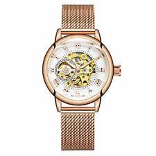 MG ORKINA Original Women Watch Skeleton Dial Automatic Analog Wristwatches with