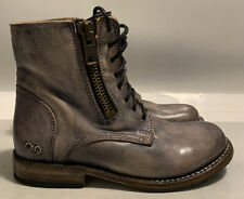 Bed Stu Bonnie Lace up Teak Rustic Leather Ankle Boots 7 Worn Once