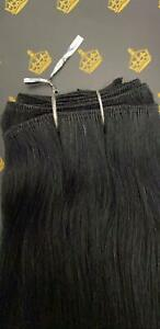 MONGOLIAN DOUBLE DRAWN 20'' 150g WEFT HUMAN HAIR EXTENSIONS SHADE #1