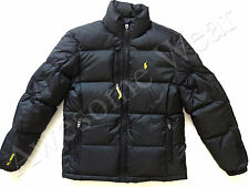 New Ralph Lauren Polo Classic Black w/ Yellow Winter Puffer Down Jacket size XXL