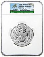 2020 P 5 oz Silver ATB America the Beautiful American Samoa NP NGC SP70 SKU61105