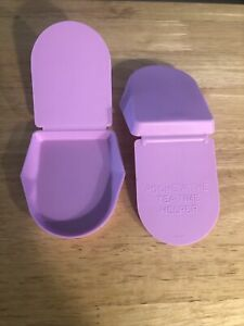 Lot Of 2 Tupperware Tea Bag Squeezer Classic Tea Time Helper  Light Purple