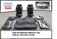 Sedili, interno completo Audi 80 dal 86 al 91 serie B3 in tessuto  [1346.15] :