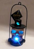 NEW Halloween Spooky Skull-O-Lantern - 3 COLORS Light Up LED Lantern